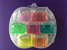 SMALL APPLE ORGANISER WITH 7X 0.14L REALLY USEFUL BOXES - RANDOM - FREE P&P!