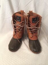 VGUC Mens Duck Boots, Great For All Season Weather Brown High Top Size 9