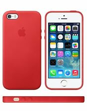 Official APPLE Leather Case Cover for iPhone 5 / 5s MF046ZM/A - RED