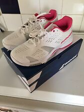 Babolat team all court w blanc/rose femme tennis taille 8 neuf rrp £ 59.99