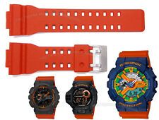 Orange Watch Band / Casio GShocks GA100 GA120 GA-110FC-2A GA110TS-1A4 GDF-100-1B