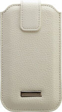 Commander Leder Handy Tasche Handytasche Apple iPhone 6 & 6S Roma XXL5.0 Weiß