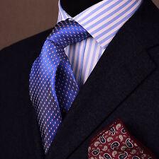 """Pink Small Watermelon Slices 3"""" Blue Skinny Tie Luxury Fashion Designer Necktie"""
