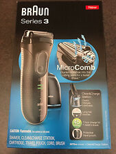 Braun Men's Series 3 Shaver with Clean & Charge Station, Model 3070cc NEW Sealed