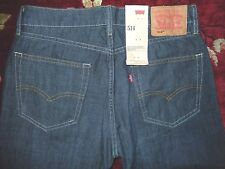 $68 Levi's 514 Mens Gray Indigo Jeans Size 31/32 Authentic Regular Straight Fit