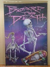 vintage Board to death skate skateboarding Poster Wade 1987 11134