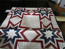 1 Pottery Barn stars red blue patchwork  Euro sham New