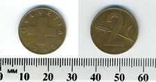 Switzerland 1963 - 2 Rappen Bronze Coin - Cross