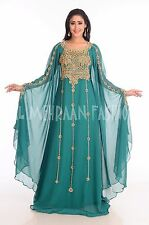 FANCY JILBAB  DUBAI ISLAMIC FANCY WEDDING GOWN MOROCCAN NIQAH LOVELY DRESS 134