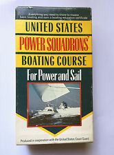 United States Power Squadrons Boating Course For Power & Sail • VHS + Book  USCG