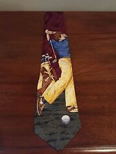 Silk Tie Golf Tie Made in USA - GORGEOUS - Flying Scotsman Collection