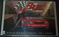 DALE EARNHARDT JR BUDWEISER BUD NASCAR POSTER NEW RARE