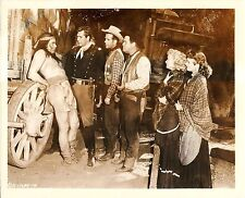 """JEFF DONNELL, AUDREY TOTTER & PHILIP CAREY in """"Massacre Canyon"""" Original 1954"""