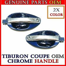 2X Bice Blue CHROME OUTSIDE DOOR HANDLE CATCH LH+RH SET 2003-2008 TIBURON COUPE