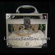 Crown & Tiara Carrying Case w/Pink or White Velvet Pad