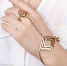 Golden Ring chain Celebrity Bracelet Femnmas bracelet Celebrity Fashion new styl