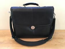"15"" DELL Black Vinyl Laptop Briefcase Bag with Computer Case Compartment"