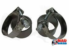 KAWASAKI ZZR600 PAIR OFF EXHAUST SILENCER GASKET SEALS AND STAINLESS CLAMPS