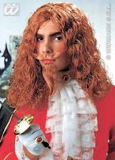 Perruque Homme Gingembre mousquetaire avec Barbe & Moustache robe fantaisie