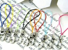 Lot 100pcs mix colors Mobile Cell Phone cords Strap Lariat Lanyard Lobster Clasp