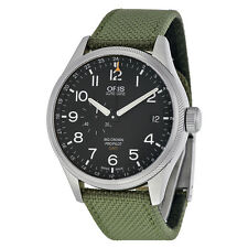 Oris Big Crown Pro Pilot Automatic Black Dial Textile Strap Mens Watch
