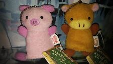 NEW Cute Japanese Pig & Cow Finger Puppet / ornament / keychain Set by Matsumoto