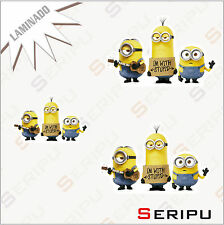 X3 MINIONS DECAL BADGE ADHESIVO STICKERS LAMINADO  TUNING MOVIL ORDENADOR
