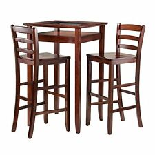 Winsome Halo 3pc Pub Table Set with 2 Ladder Back Stools-94386 NEW