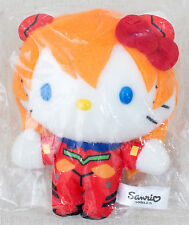 Evangelion Asuka Langley Hello Kitty Plush Doll Figure Sanrio JAPAN ANIME MANGA