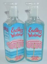 LOT OF 2 NEW BATH BODY WORKS ENDLESS WEEKEND DEEP CLEANSING HAND SOAP WASH BLUE