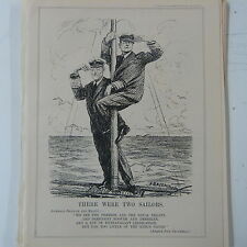 """punch cartoon 7x10"""" 1930 THERE WERE TWO SAILORS jellicoe & beatty"""