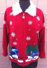 Ugly Cute Christmas Karen Scott Medium Sweater Unisex Tacky Party Winner