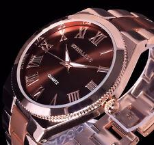 Excellanc Damen Uhr Armbanduhr Braun Rose Gold Farben Metall 10