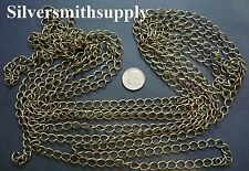 12 ft Ant bronze plated twist cable link chain 8x6mm 4 open links in bulk ch088