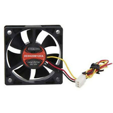Evercool EC6020M12CA 60mm x 20mm Ball Bearing 12v Med Speed Cooling Fan 3/4 pin