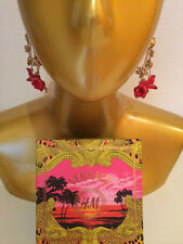 Versace for H&M Ohrringe / Ohrhänger Blüten Rot/Gold earrings *NEW* in Box