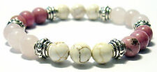MANIFEST LOVE 8mm Crystal Intention Bracelet w/Description - Healing Reiki Stone