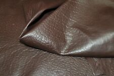 Lambskin thick leather hide skin hides skins pelt NATURAL GRAINY BROWN 6sqf
