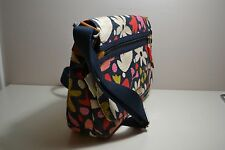 NWT FOSSIL BLAKE FLORAL PRINT CANVAS CROSSBODY MESSENGER LAPTOP PURSE ZB6787865