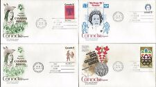 4 Canada FDC's Various issues  1A14