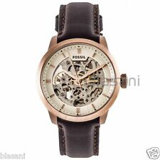Fossil Original ME3078 Men's Townsman Automatic Dark Brown Leather Watch 40mm