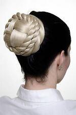Haarteil Zopf Dutt Haarknoten geflochten Tracht Haarstyling Lichtblond TC2041-88