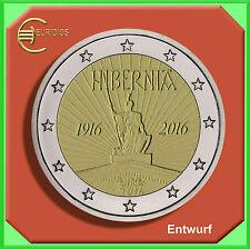 """2 Euro € Gedenkmünze Coin Coins Irland 2016 """" 100 Jahre Osteraufstand """" bankfr."""