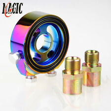 Oil filter Adaptor Sandwich Plate for pressure temperature sensor gauge Colorful