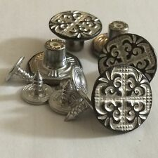 17MM NO SEW HAMMER JEAN BUTTONS X 4 ANTIQUE COPPER SILVER