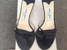 Jimmy Choo black sandles with box and dust bag size 37.5
