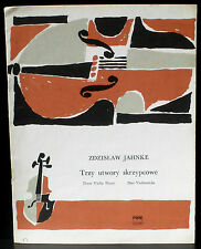 Partition / Score Zdzislaw Jahnke 3 violin pieces PWN 1978 TBE