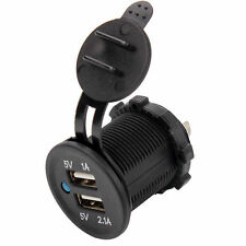 Waterproof Panel Mount Dual USB Power Socket Charger Marine Car Truck 12V-24V-UK