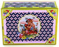 WU&WU Fiona Hewitt Cotton Candy Cigar Sewing Treasure Box Tin Retro Kitsch