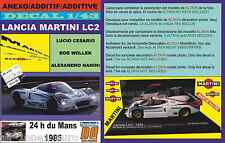 ANEXO DECAL 1/43 LANCIA LC2 CESARIO-WOLLEK-NANINI LE MANS 1985 (01)